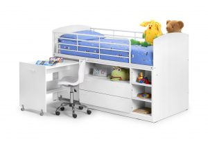 Children's Bed With Pull Out Desk