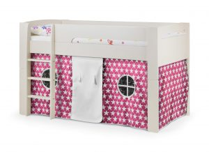 Pluto Cabin Children's Bed With Pink Star Tent