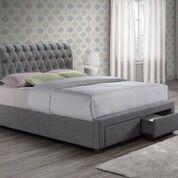 Valentino Grey Fabric Bed