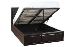 Cher Brown Leather Bed